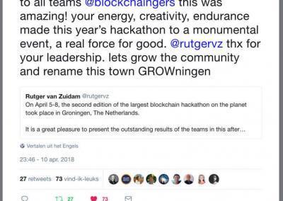 Constantijn about the Blockchaingers Hackathon