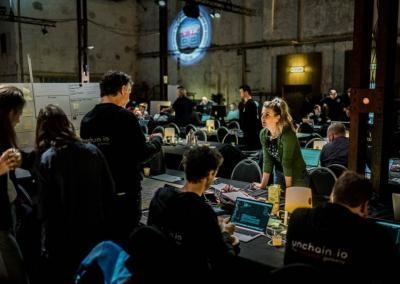 Blockchaingers Hackathon 2018 at work