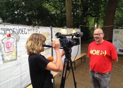 Rein op RTV Noord met HOI-shirt