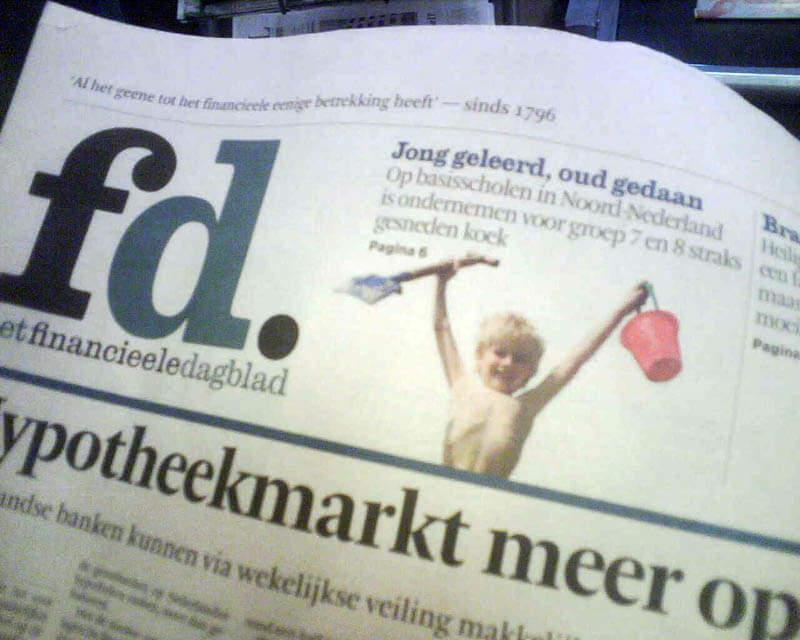 Djungo Ondernemen Basisschool voorpagina Financieele Dagblad