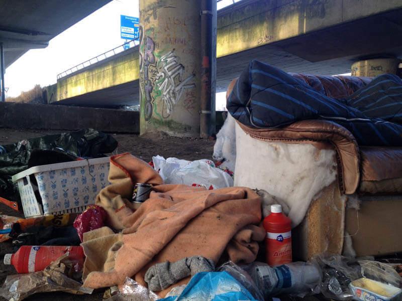 Slaapplek Buitenslaper Dakloos Viaduct Groningen