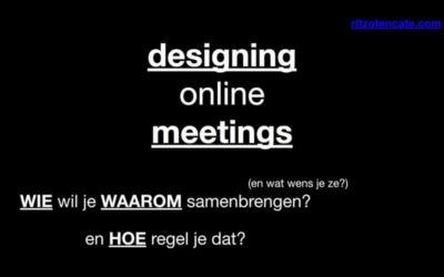 Online vergaderen en samenwerken – hoe doe je dat effectief?